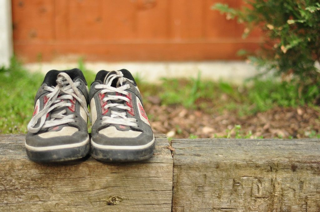 trainers on a ledge flickr Richard Beatson