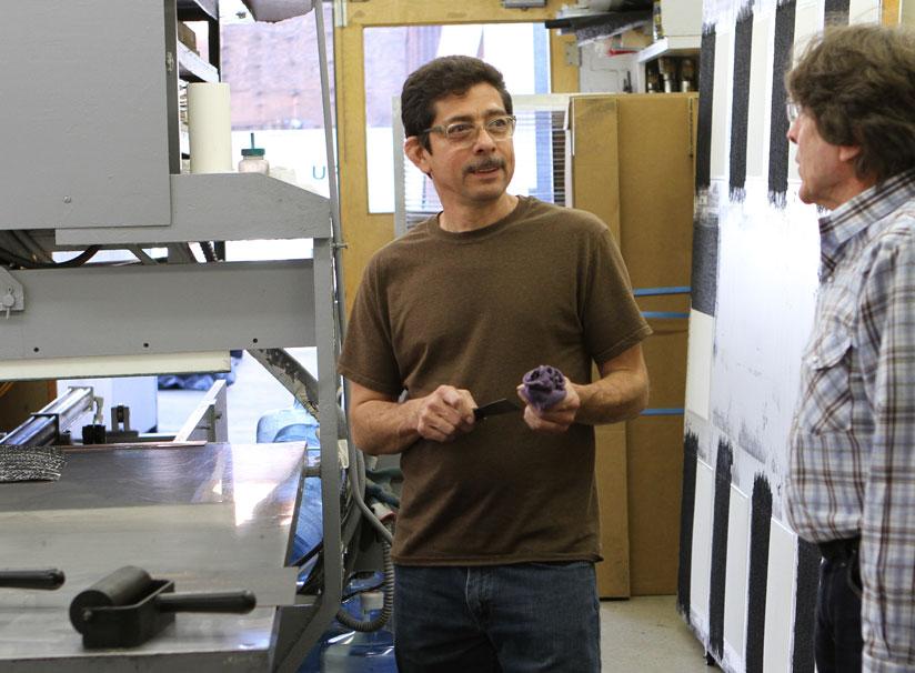 Xavier Fumat, printmaker at Gemini G.E.L studios in Beverley Hills, LA