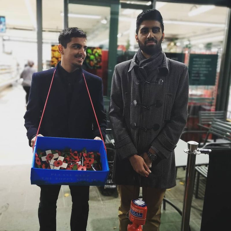 AMYA members collecting for the Poppy Appeal