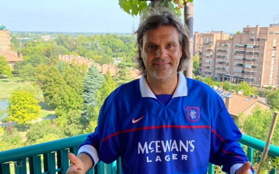 Ex-Rangers forward Marco Negri discusses an injury incurred after first stepping on to a squash court