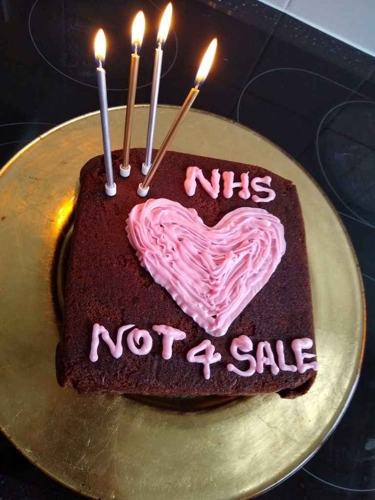 Bakers across the country have been showing love to the NHS while slamming privatisation
