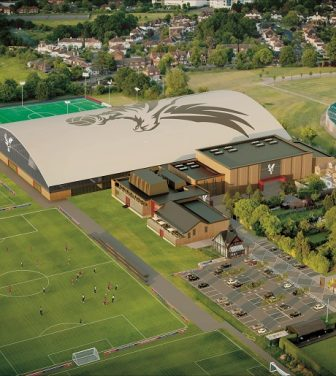 Crystal Palace academy from above