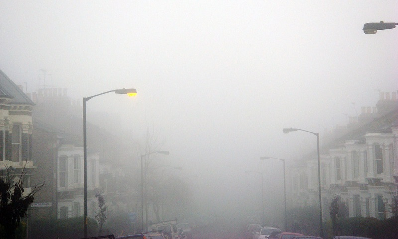 A polluted London street