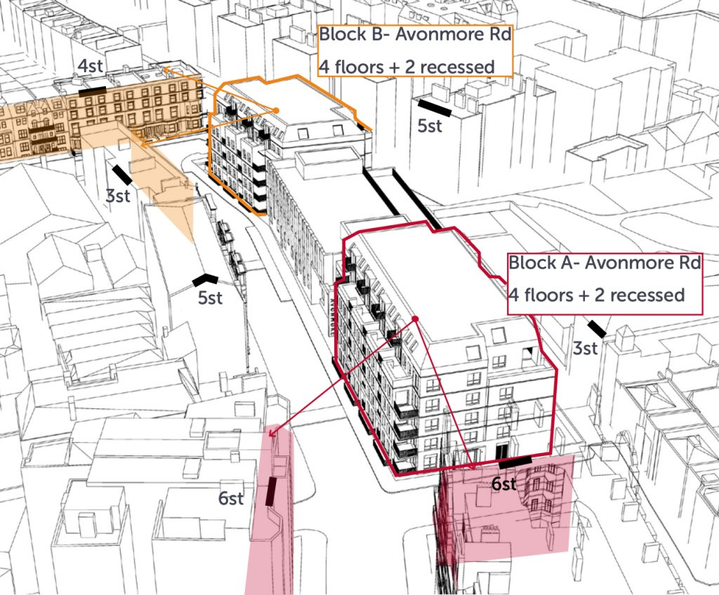 The Council's designs include building two blocks of flats on either side of the new primary school