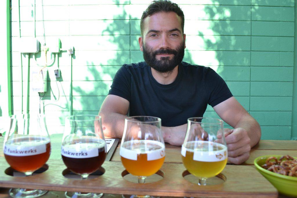 Jawbone Brewery Founder Ben Hughes enjoying some beer