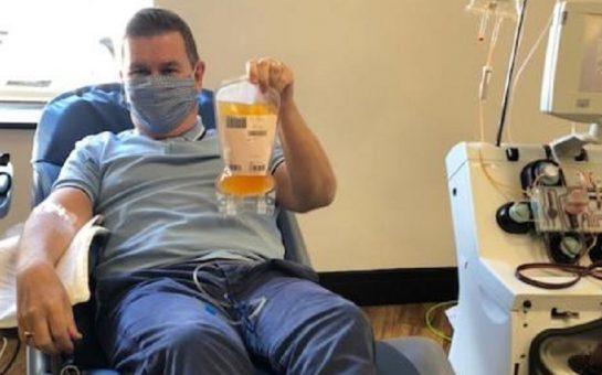 Danny Freeman a coronavirus survivor who has donated his plasma