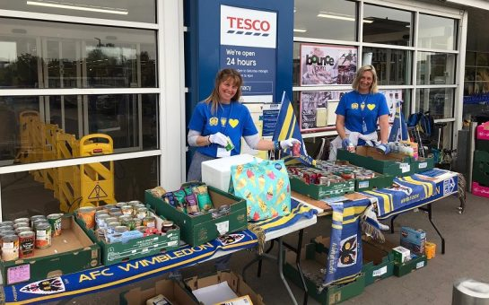 DLAG individuals collecting food outside Tesco