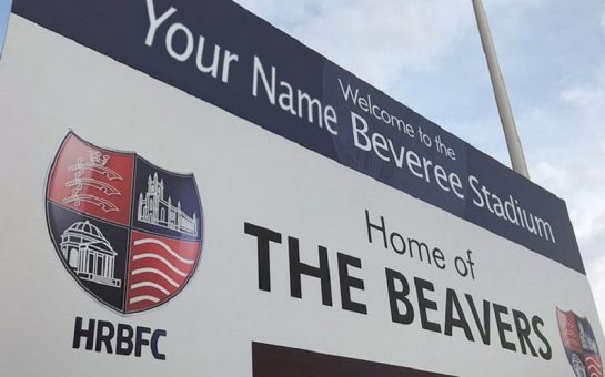 hampton and richmond borough stadium sign
