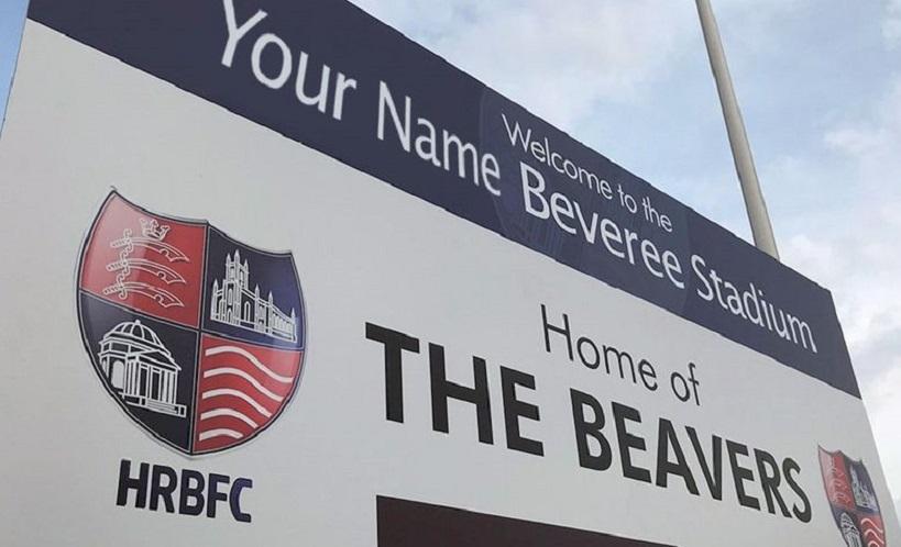 hampton and richmond borough stadium sign