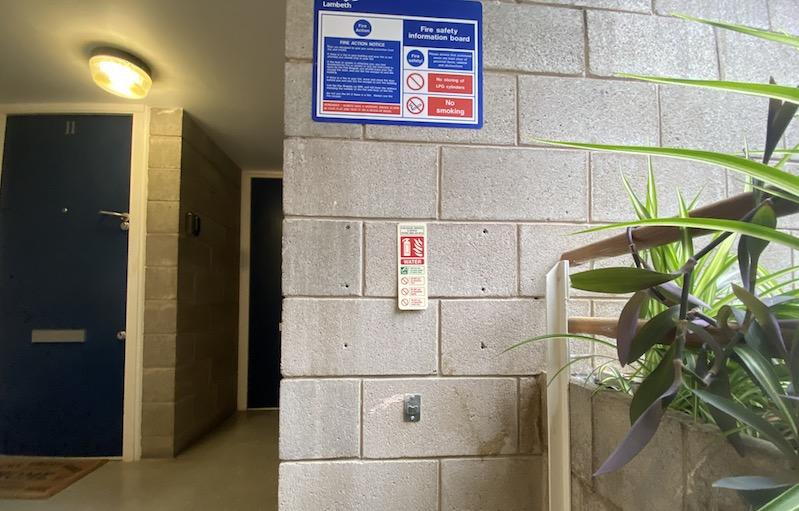 Missing Fire Extinguisher in Macintosh Court