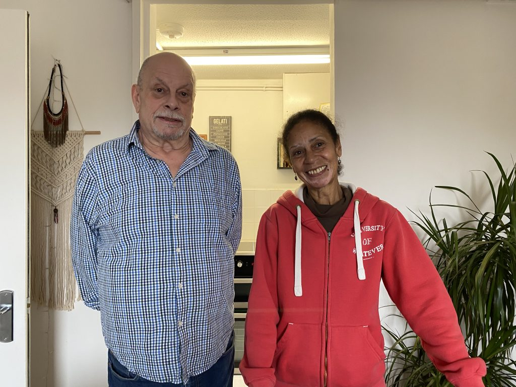 John Beechey, 65 and Janet Gayle, 65. Lambeth residents who fear fire