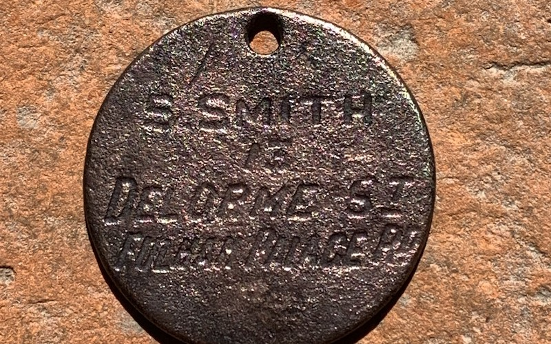 dog tag found in the river thames by JasonMudlarker