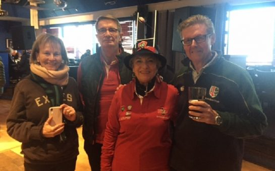 LISC chair and his wife with the Toulon Supporters Club chair and her husband