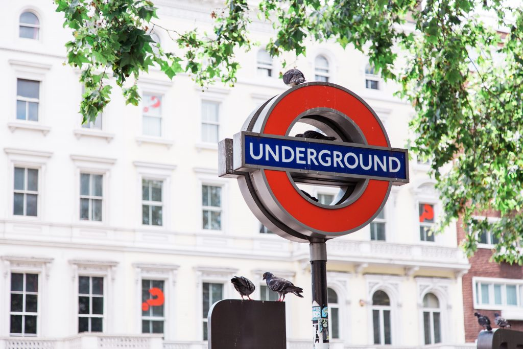 The London Underground sign