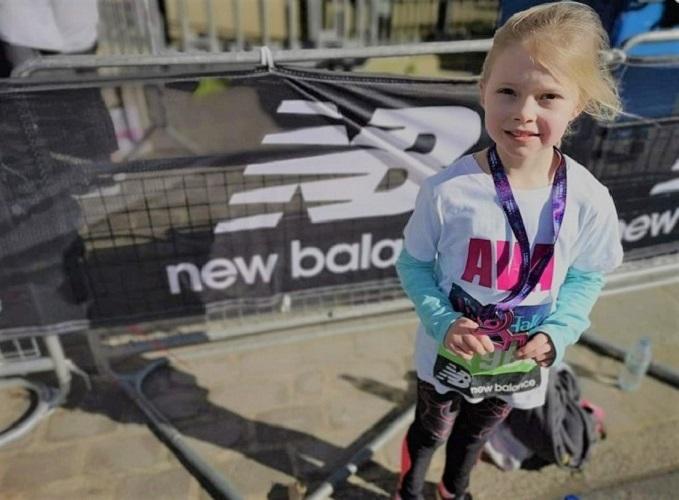 Ava in Greenwich for the mini-marathon.