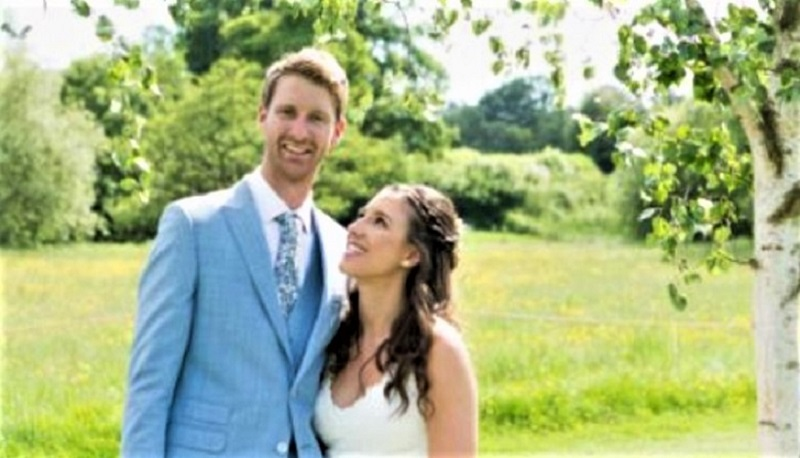Mr and Mrs Acton on their wedding day in 2018