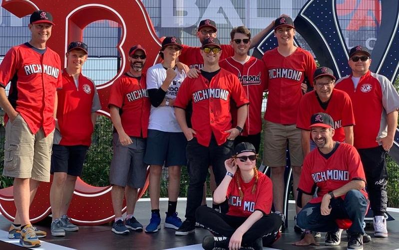 Richmond baseball club players in a team photo formation