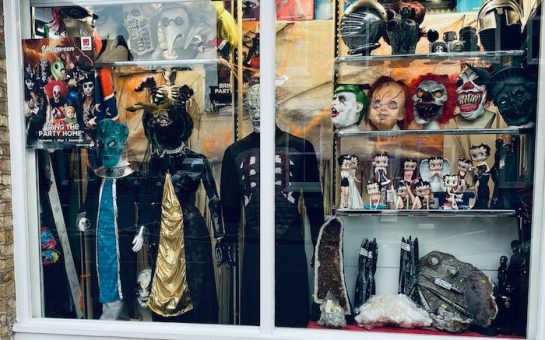 The storefront of Jerusalem Costumes in Putney