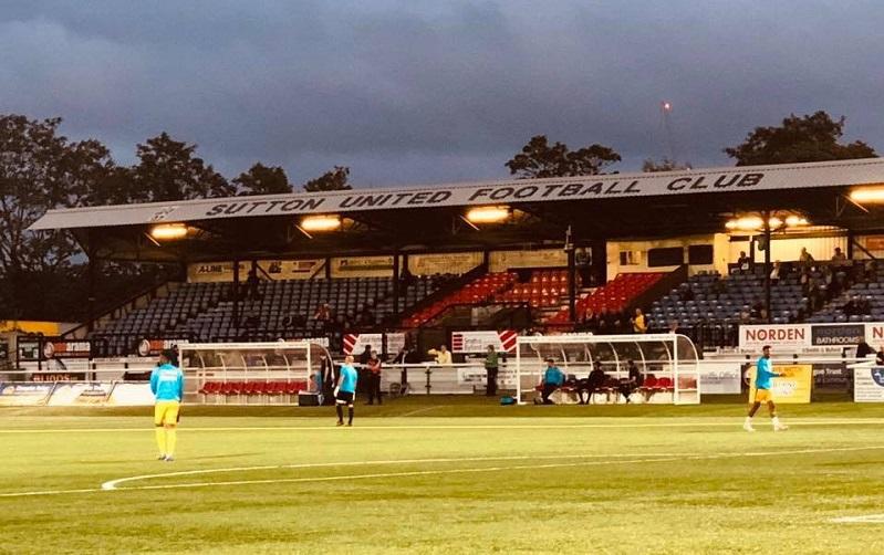 Sutton United stadium interior