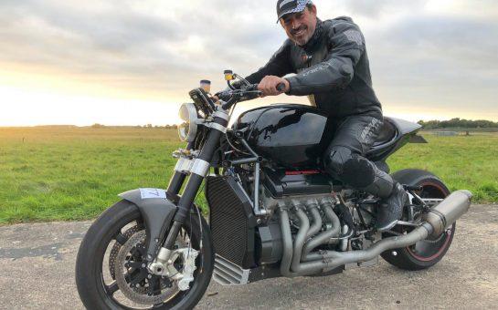 Zef Eisenberg on motorbike
