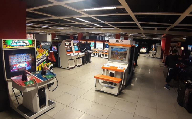 interior of an arcade