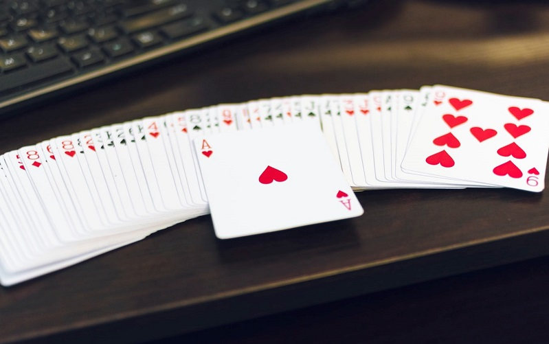 deck of cards on a table