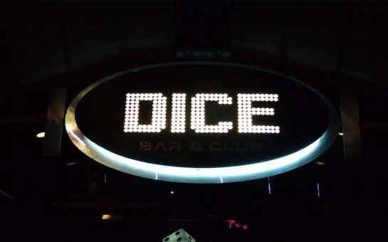 Dice Bar and Club sign