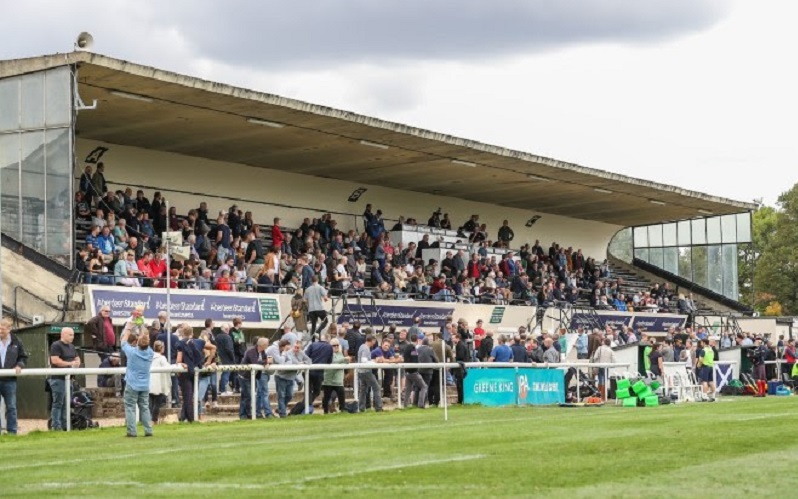 london scottish stand full of fans
