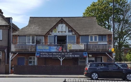 the exterior of mitcham cricket club