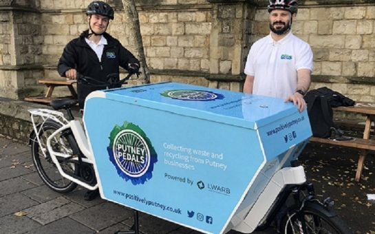 putney pedals recycling bike