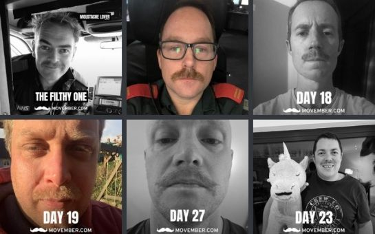 london paramedics do movember for male mental health