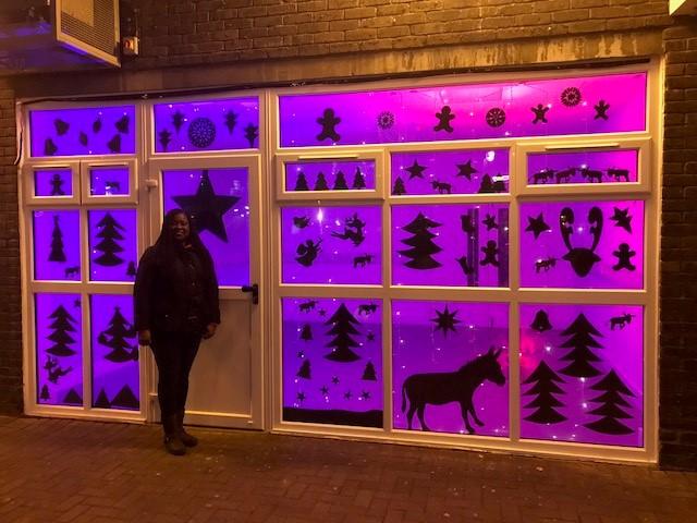 Battersea MP Marsha de Cordova on the Nine Elms giant advent calendar trail