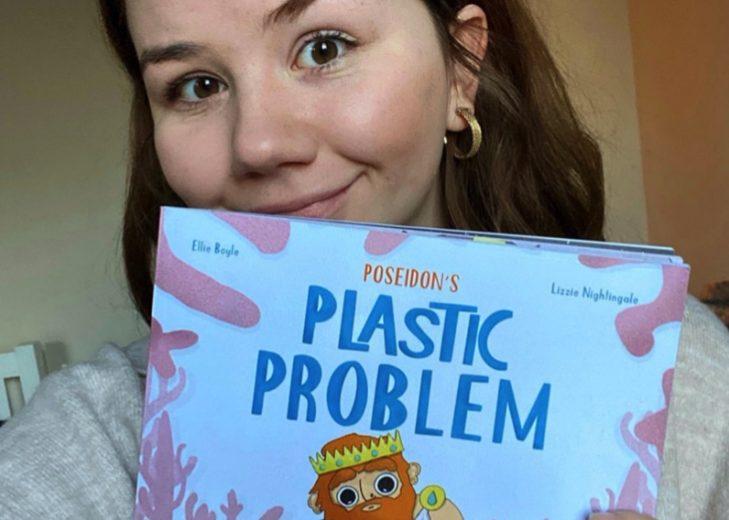 Lizzie Nightingale illustrator of Poseidon's Plastic Problem