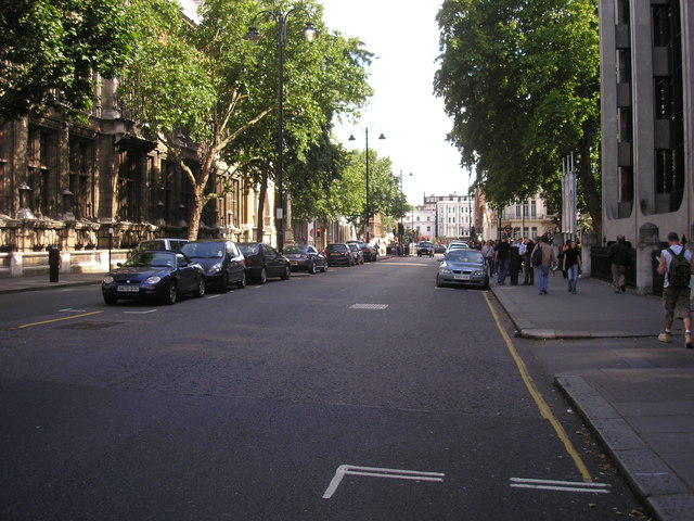 Exhibition Road looking towards South Kensington