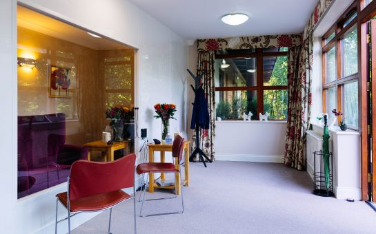 The visiting suite at Lynde House
