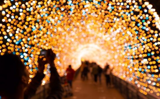 Christmas at Kew Gardens a tunnel of lights