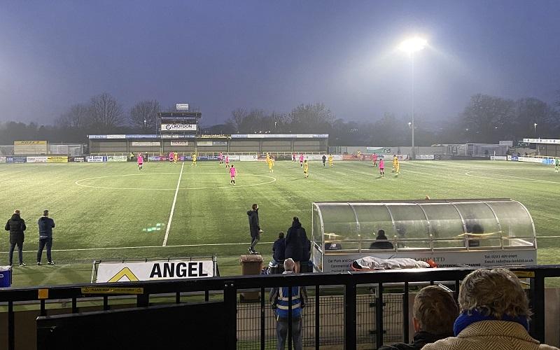 sutton united v halifax stadium shot