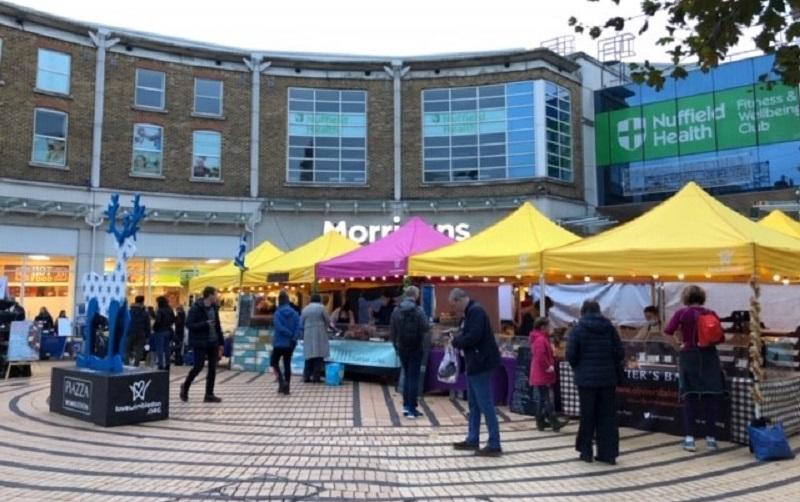stalls at the wimbledon market