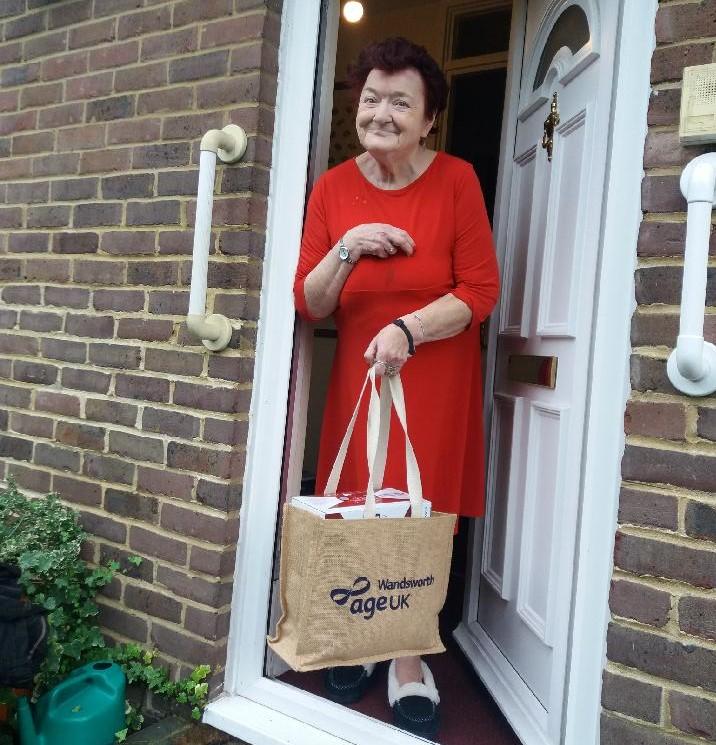 Age UK Wandsworth Christmas gift baskets isolated elderly people