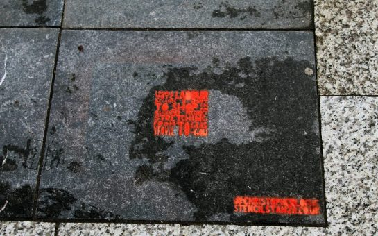 'I shall vote Labour' street art instillation