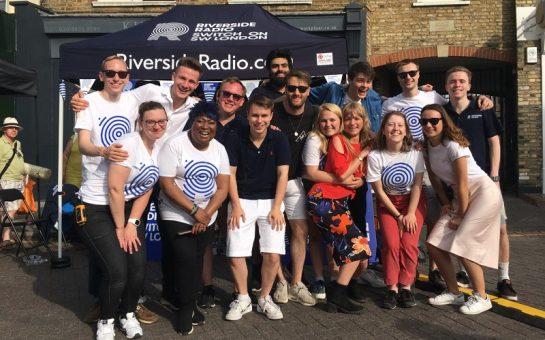 the riverside radio team in summer 2019