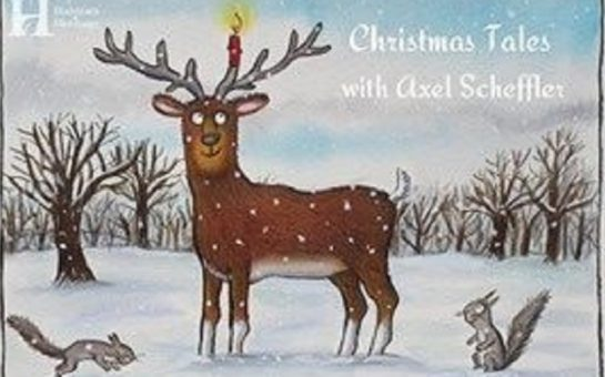 the cover of christmas tales by axel scheffler