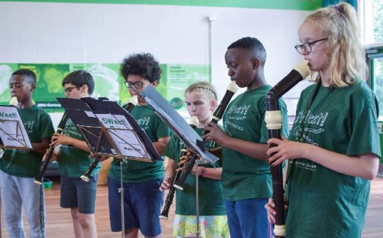 Lambeth children playing the recorder