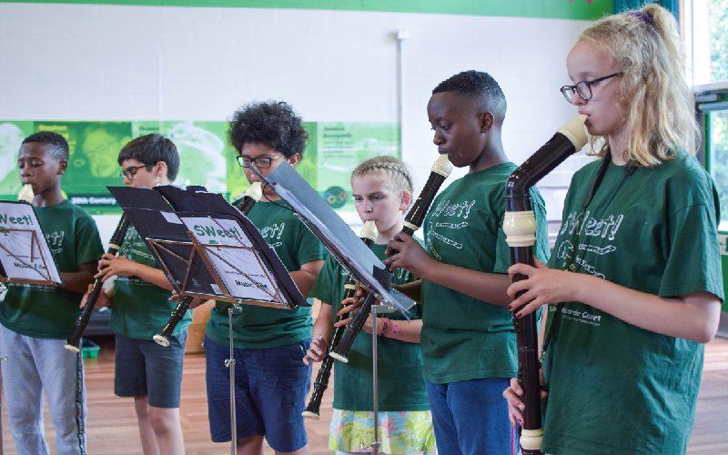 Lambeth children playing the recorder