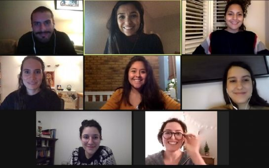 A Zoom meeting of the Apoyo Comunitario Sur de Londres team