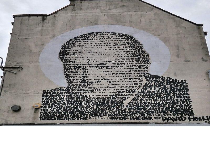 Churchill mural in Croydon