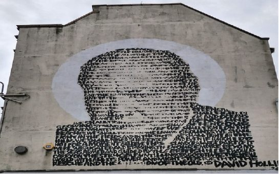 Churchill mural in Croydon