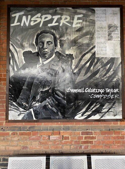 Purley station art on display, Samuel Coleridge-Taylor