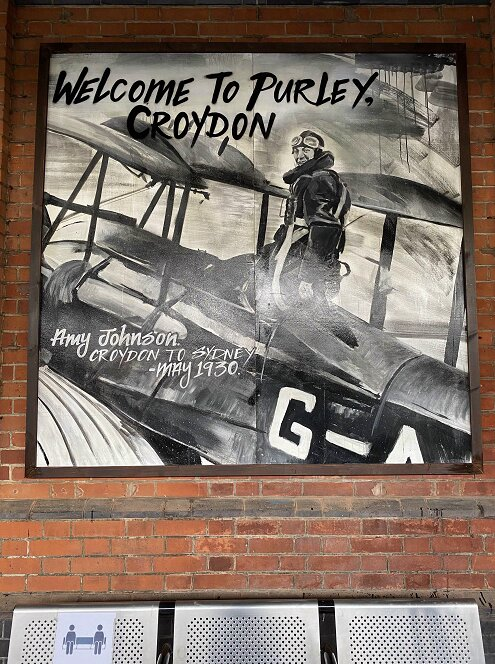 Purley station art on display, Amy Johnson