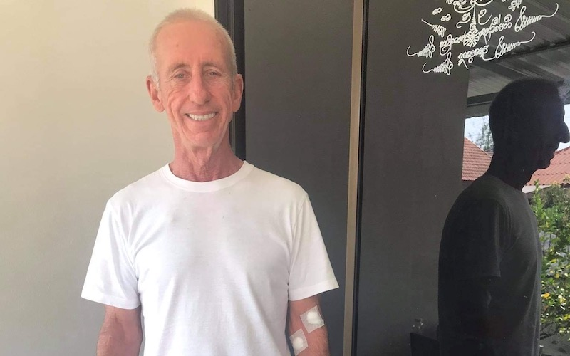 Image of person diagnosed with cancer on holiday in Thailand